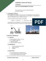 3. Desprendimiento de Gases