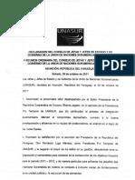Declaracion Del Consejo de Jefas y Jefes de Estado de Unasur v Reunion Ordinaria Del Consejo de Jefas y Jefes de Estado y de Gobierno de Unasur
