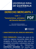 Derecho Mercantil i Clase 3