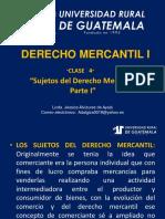 Derecho Mercantil i Clase 4
