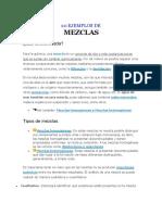10 Ejemplos de Mezclas Heterogéneas