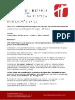 Romanos - RIP #013 - Escravos Da Justiça