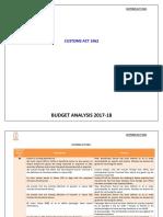 Customs Act amendment notes