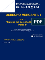 Derecho Mercantil i Clase 5