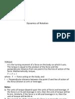 Dynamics of Rotation
