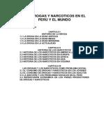Drogas y Narcoticos en El Perú y El Mundo
