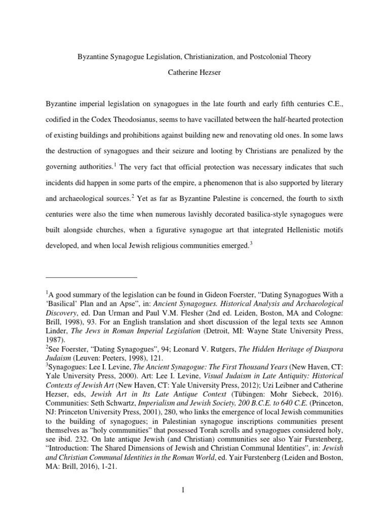 jewish slavery in antiquity hezser catherine