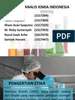 Kode Etik Analis Kimia Indonesia