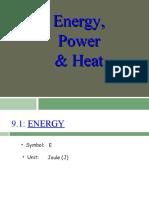 Power, Energy and Heat