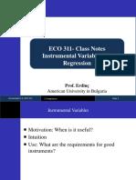 2. IVregression ECO311 Erdinc 14.03