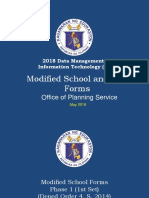 Modified School Forms Overview as of May 2018