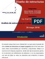 Análisis de Estructuras en Colapso Progresivo Diseño de Estructuras Investigación