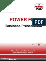 Power Fill Business Primer