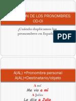 Duplicación de Los Pronombres