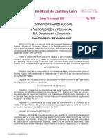 Bases Para 5 m c en Ayuntamiento Valladolid