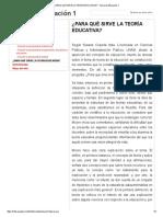 ¿Para Qué Sirve La Teoría Educativa_ - Teoría de Educación 1
