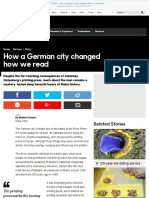 BBC - Travel - How a German City Changed How We Read