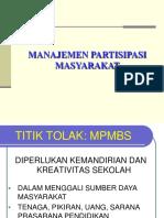 Manajemen  Partisipasi Masyarakat