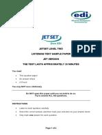 JETSET Level 2 Listening SAMPLE (JET Version)