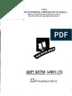 Ram Ratna Wires Ltd AR