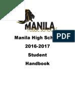 High School Student Handbook 2016 2017