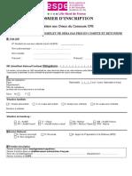 Dossier d Inscription Oraux Cpe