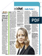 """Newsday """"Fast Chat"""" - Jodie Foster"""