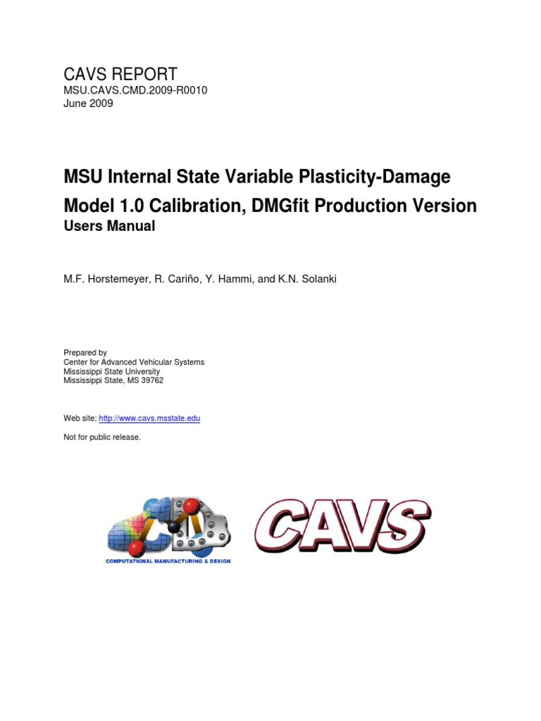 MSU CAVS CMD 2009-R0010 | Elasticity (Physics) | License