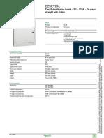 Easy9_EZ9ET24L Consumer Unit Specification Sheet
