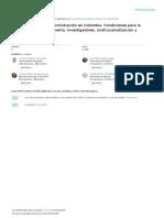 La Investigación en Administración en Colombia