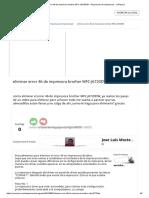 Eliminar Error 46 de Impresora Brother MFC-J6720DW