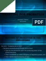 Granting for Probation