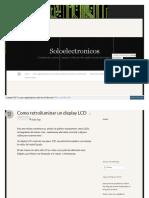 Soloelectronicos Com 2013-05-12 Como Retroiluminar Un Displa