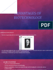 Advantages of Biotechnology