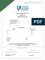 Lab Report Rubric - Unit Operation Lab Sem II 1718