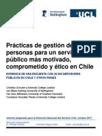 Prácticas de gestión de personas para un servicio público más motivado, comprometido y ético en Chile