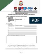 Formulir Pendaftaran Peserta Sayembara New Balaikota