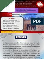 Proyecto de Investigacion Estudio de Áreas Degradadas Por Minería en El Distrito de Namora (1)