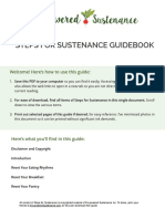Steps for Sustenance Guide