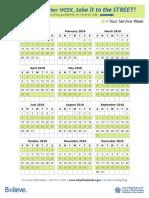 2017-18 Recycling Calendar GREEN