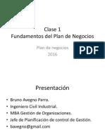 CLASE 01 - Fundamentos de Un Plan de Negocios