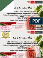 Dia de La Madre Invitacion 2018