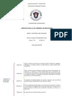 Articulos de La Ley General de Educacion