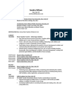 sandra wilson - teaching resume