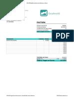Plantilla Factura en Excel
