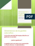 Dimensiones y La Gestión Educativa