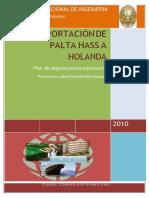 Exportación de Palta Hass a Holanda