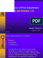 Price Adjustment Concept and Practice I & II