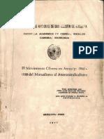 El Movimiento Obrero en Arequipa 1900-1930. Del Mutualismo Al Anarcosindicalismo