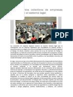 Los Convenios Colectivos de Empresas Modernizan El Sistema Legal